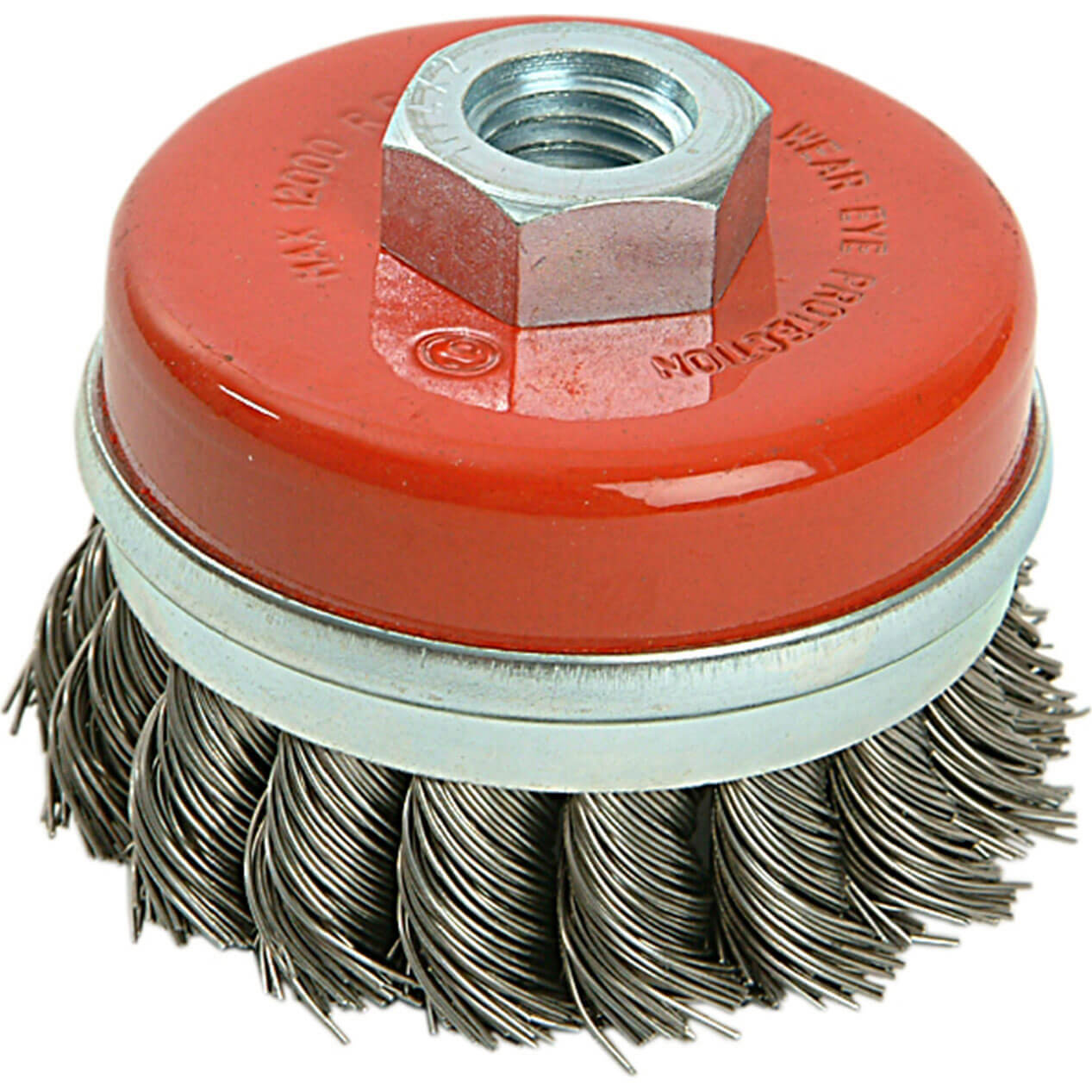 Image of Black & Decker X36080 Piranha Twist Knot Wire Cup Brush 65mm M14 Thread