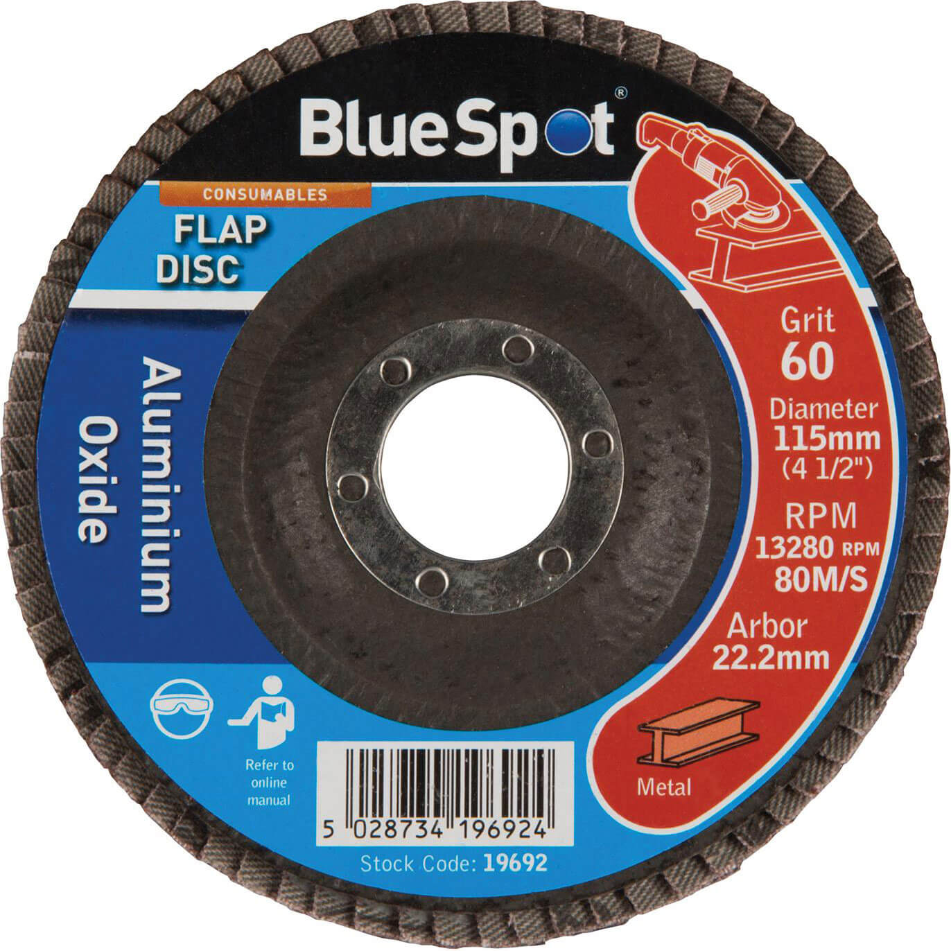 Image of BlueSpot Flap Disc 115mm 115mm 60g