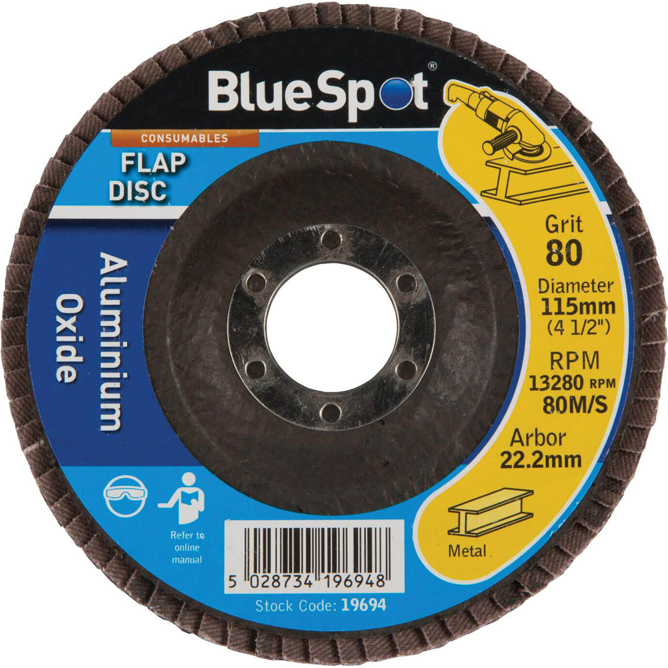 Image of BlueSpot Flap Disc 115mm 115mm 80g