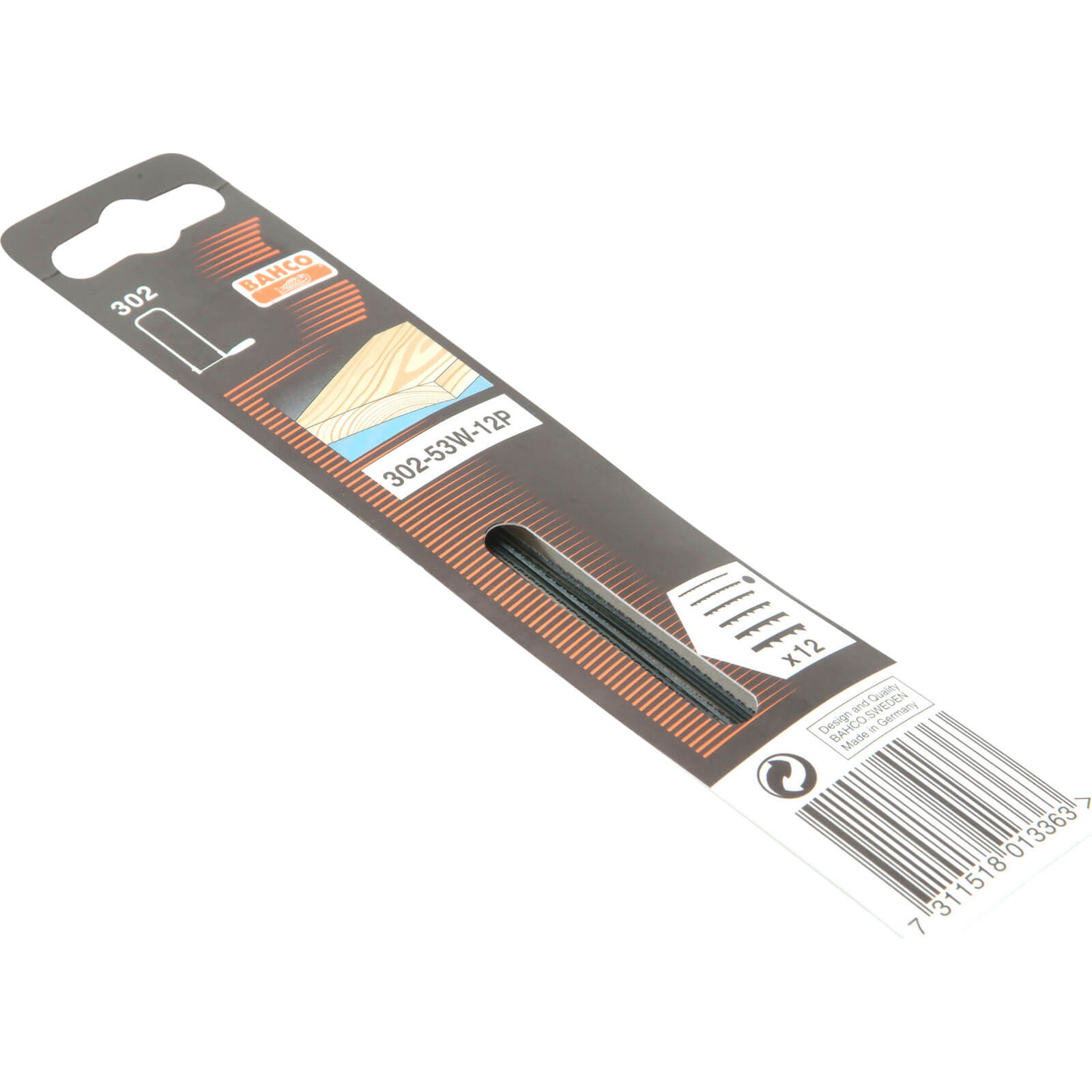 Image of Bahco Wood Fretsaw Blades 130mm Fine Pack of 1