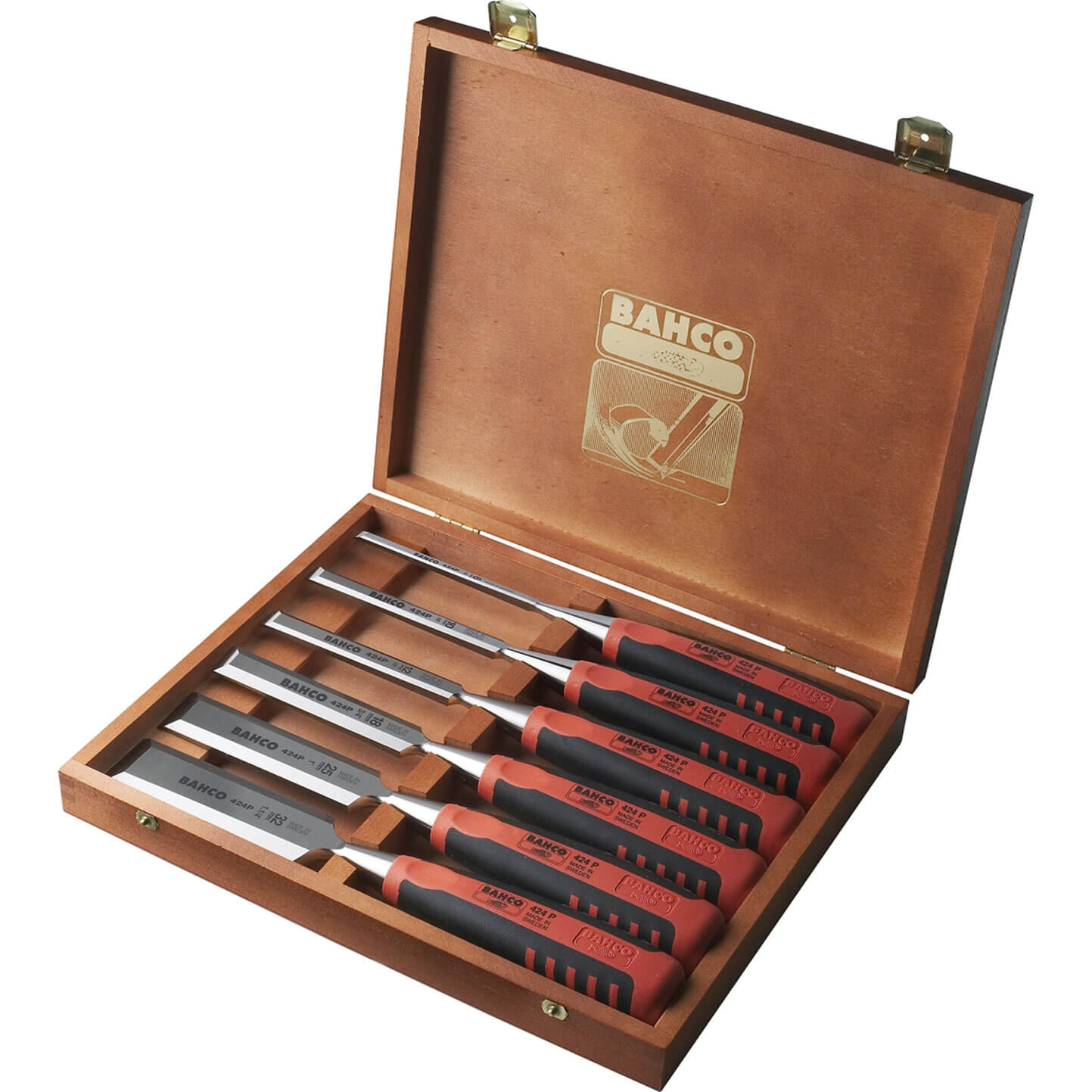 Bahco 6 Piece 424P-S6 Bevel Edge Chisel Set