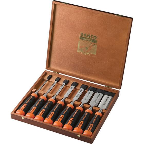 Image of Bahco 434 8 Piece Bevel Edge Wood Chisel Set