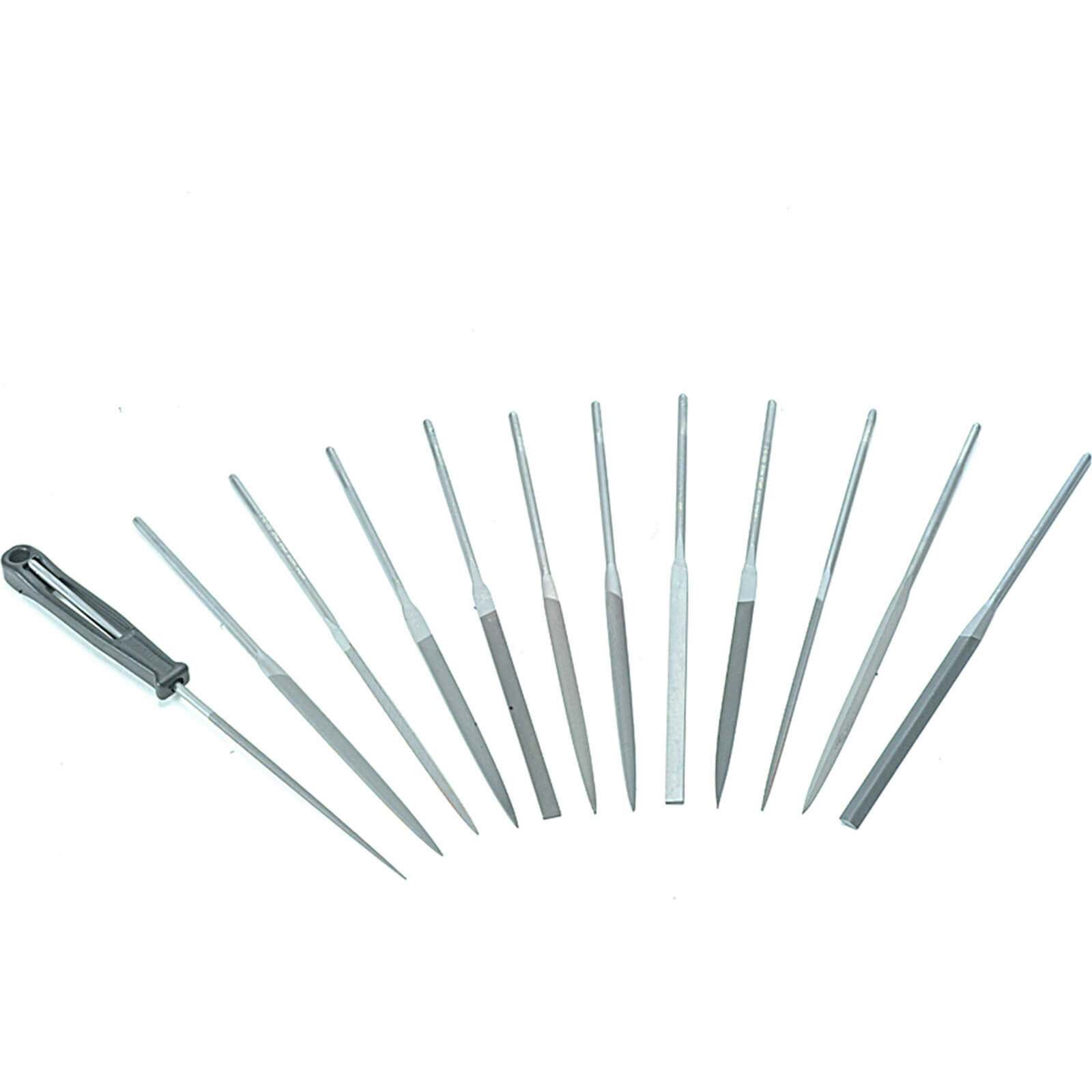 Image of Bahco 12 Piece Precision Needle File Set in Plastic Wallet