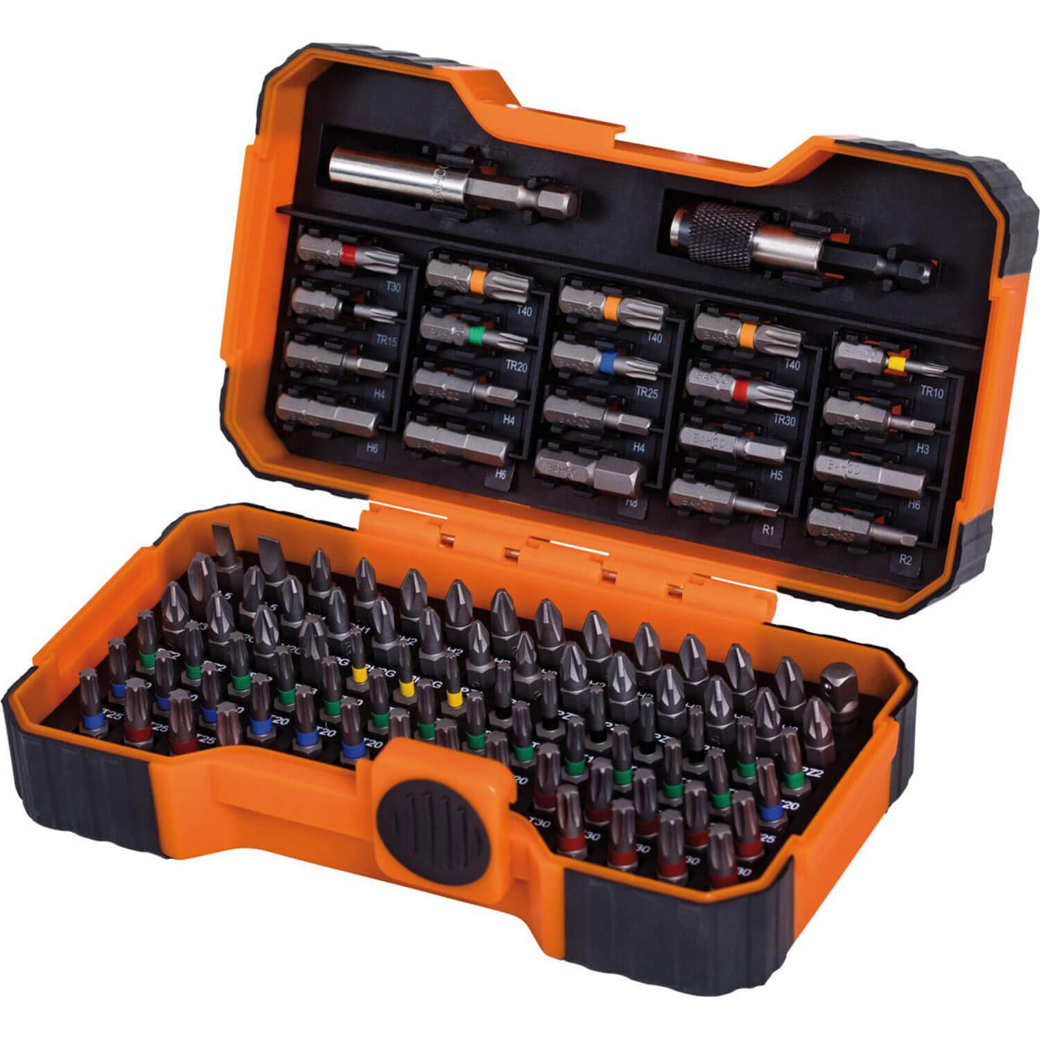 Image of Bahco 100 Piece Colour Coded Screwdriver Bit Set