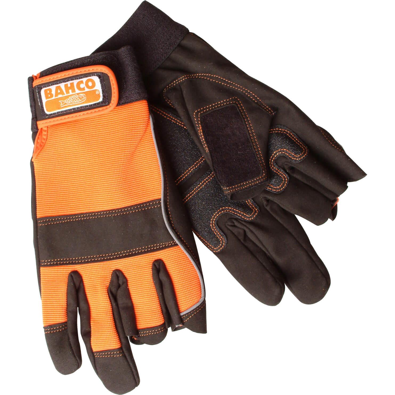 Bahco Carpenters Fingerless Work Gloves XL