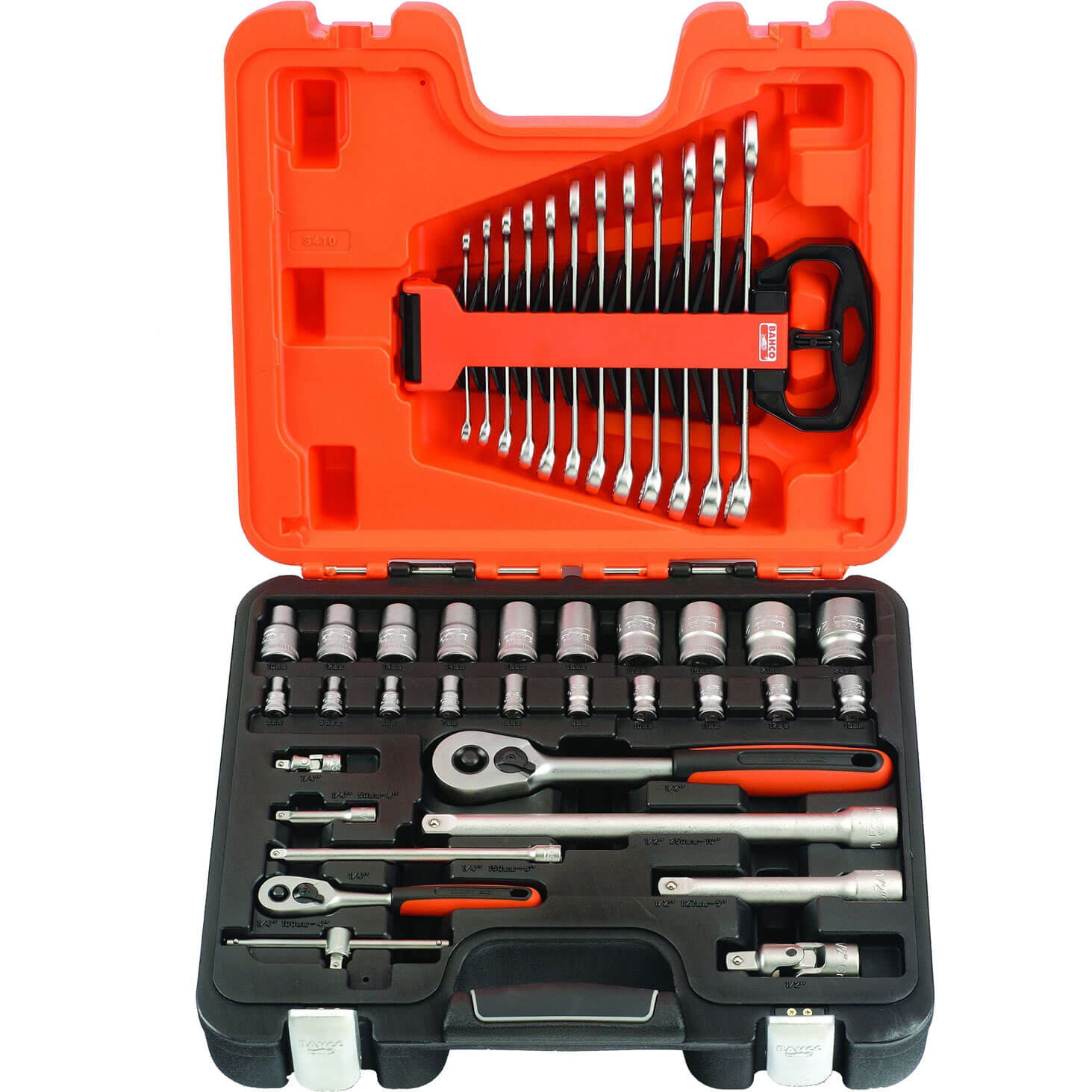 Click to view product details and reviews for Bahco 41 Piece Combination Drive Hex Socket And Spanner Set Metric Combination.