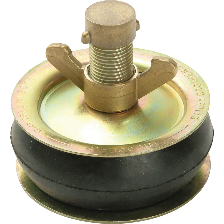 Image of Bailey Drain Test Plug Brass Cap 100mm