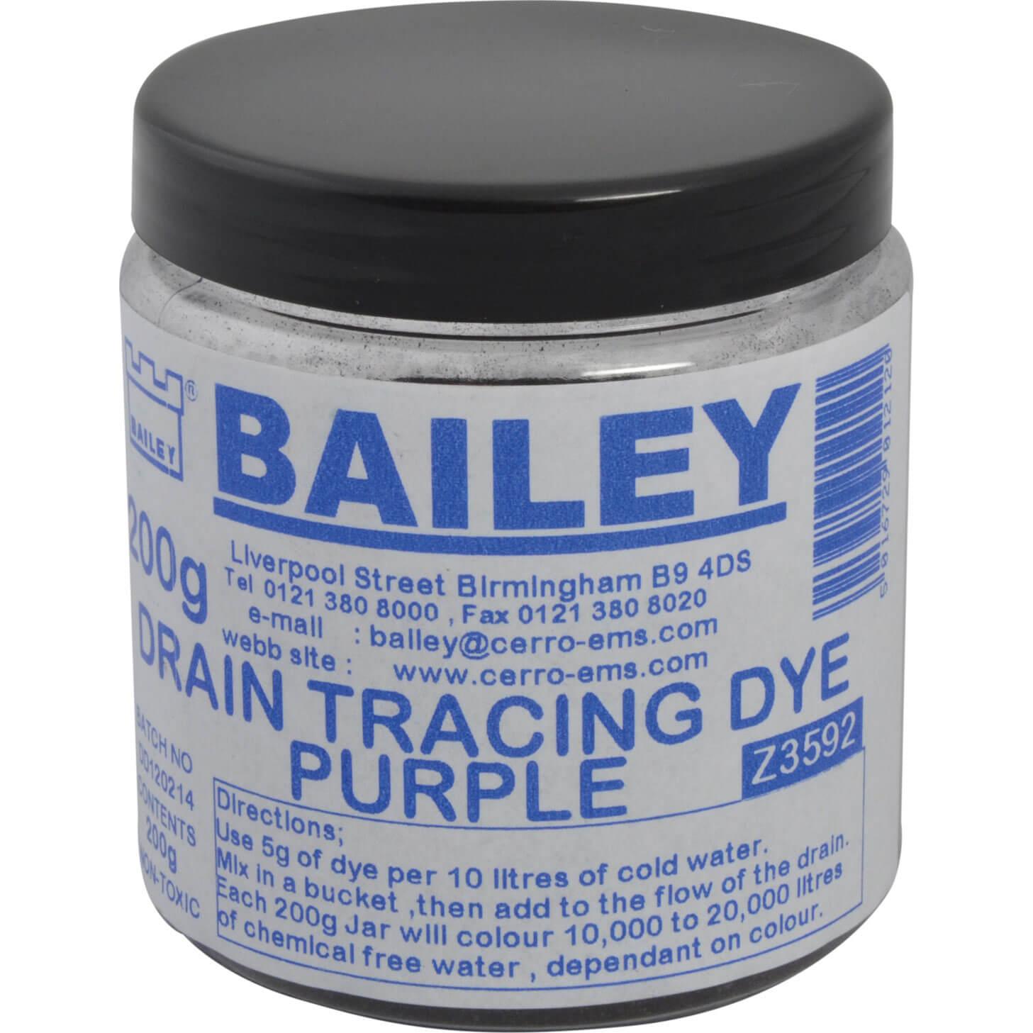 Bailey Drain Tracing Dye Purple 200g