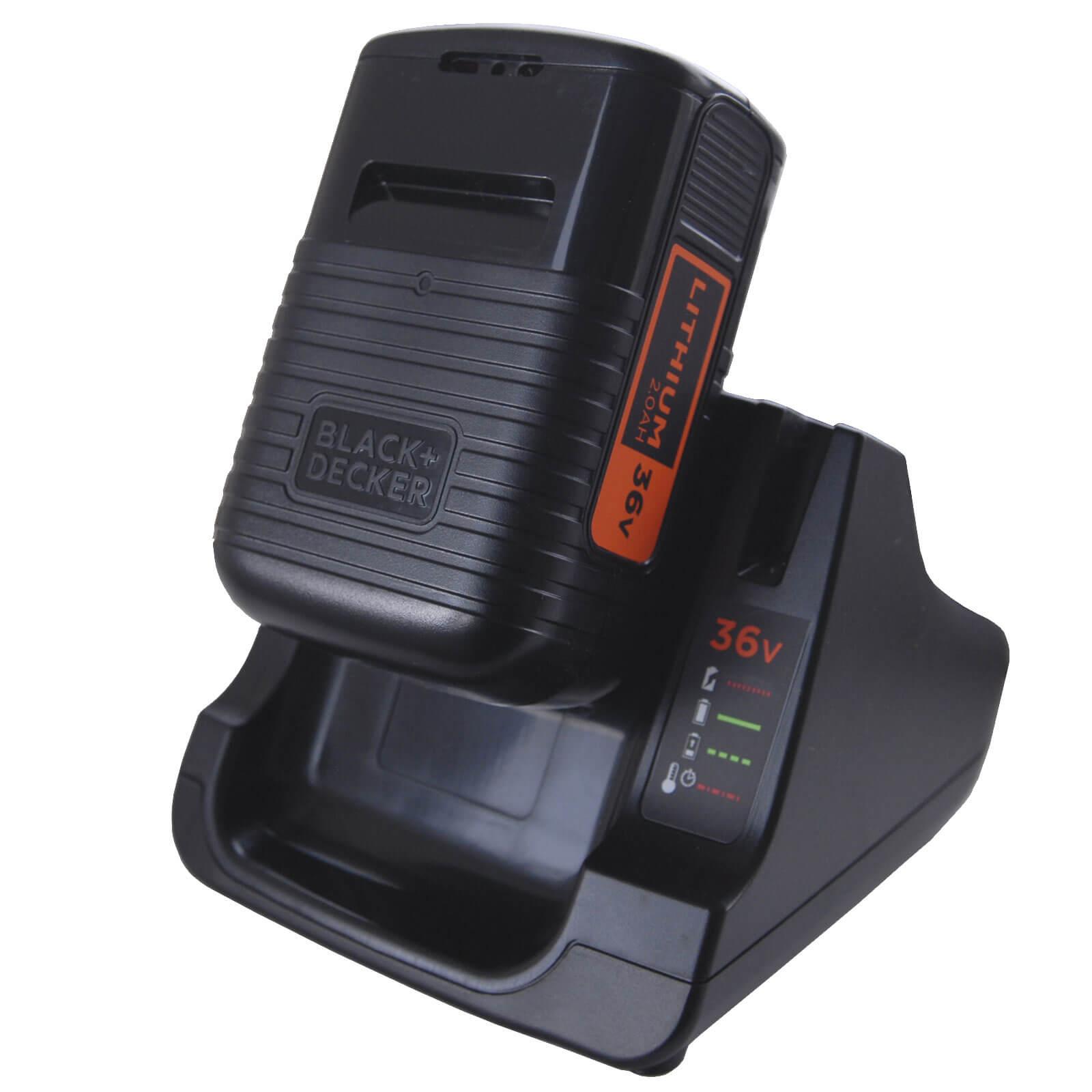 Image of Black & Decker BDC2A36 36v Cordless Battery Charger & Battery 2ah 240v
