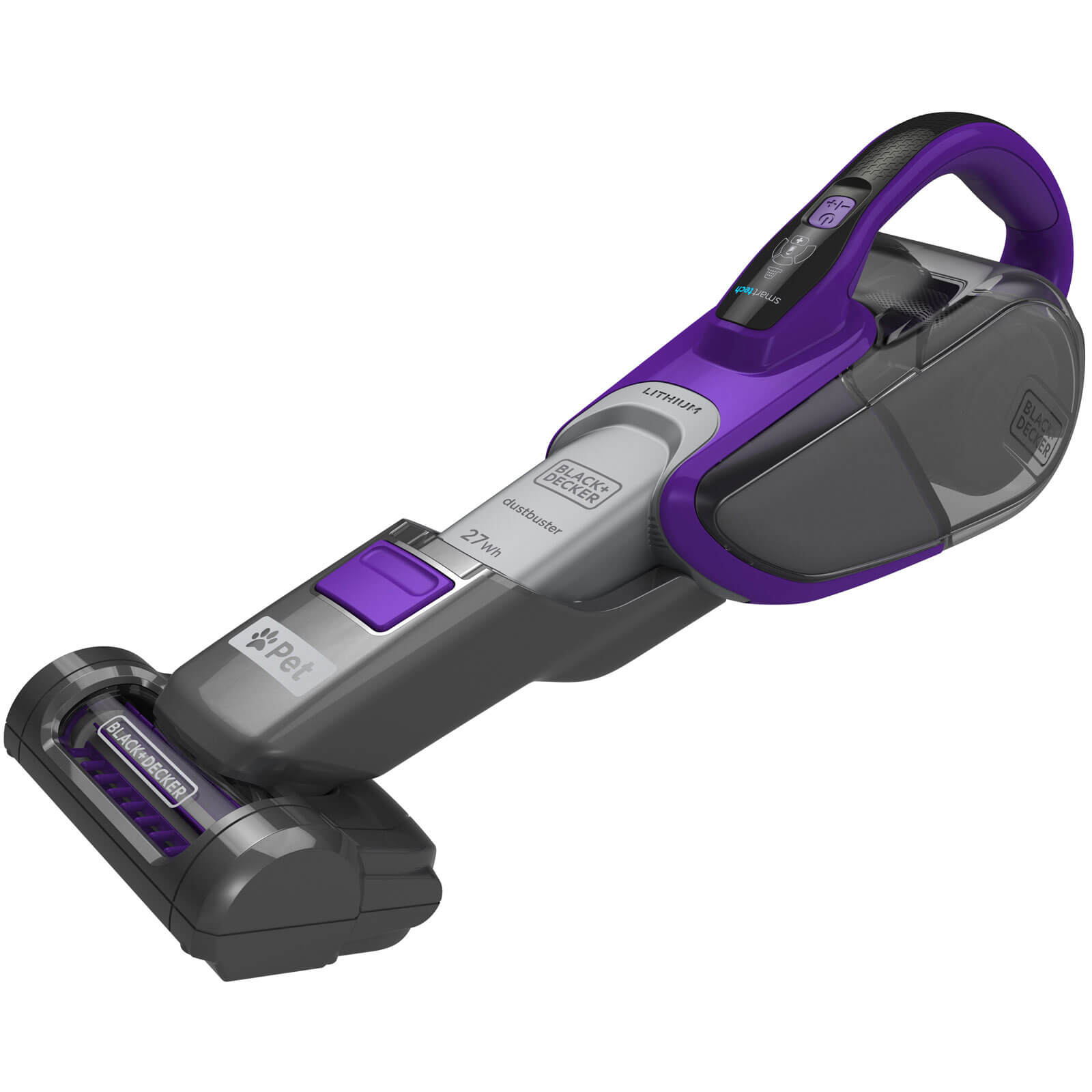 Black & Decker DVJ325BFSP 10.8v Cordless Digital PET Cyclonic Dustbuster 1 x 2.5ah Integrated Li-ion Charger No Case