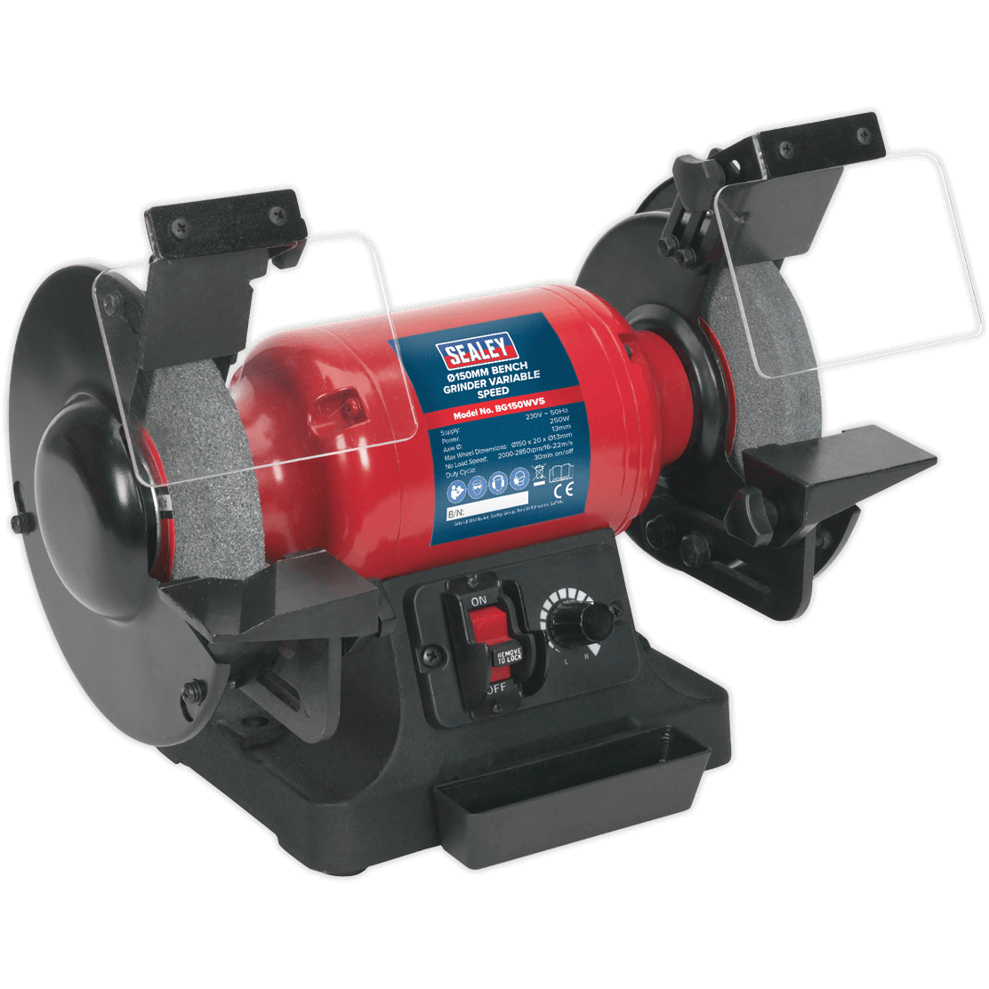 Sealey Bg150wvs Bench Grinder 150mm Variable Speed Bench