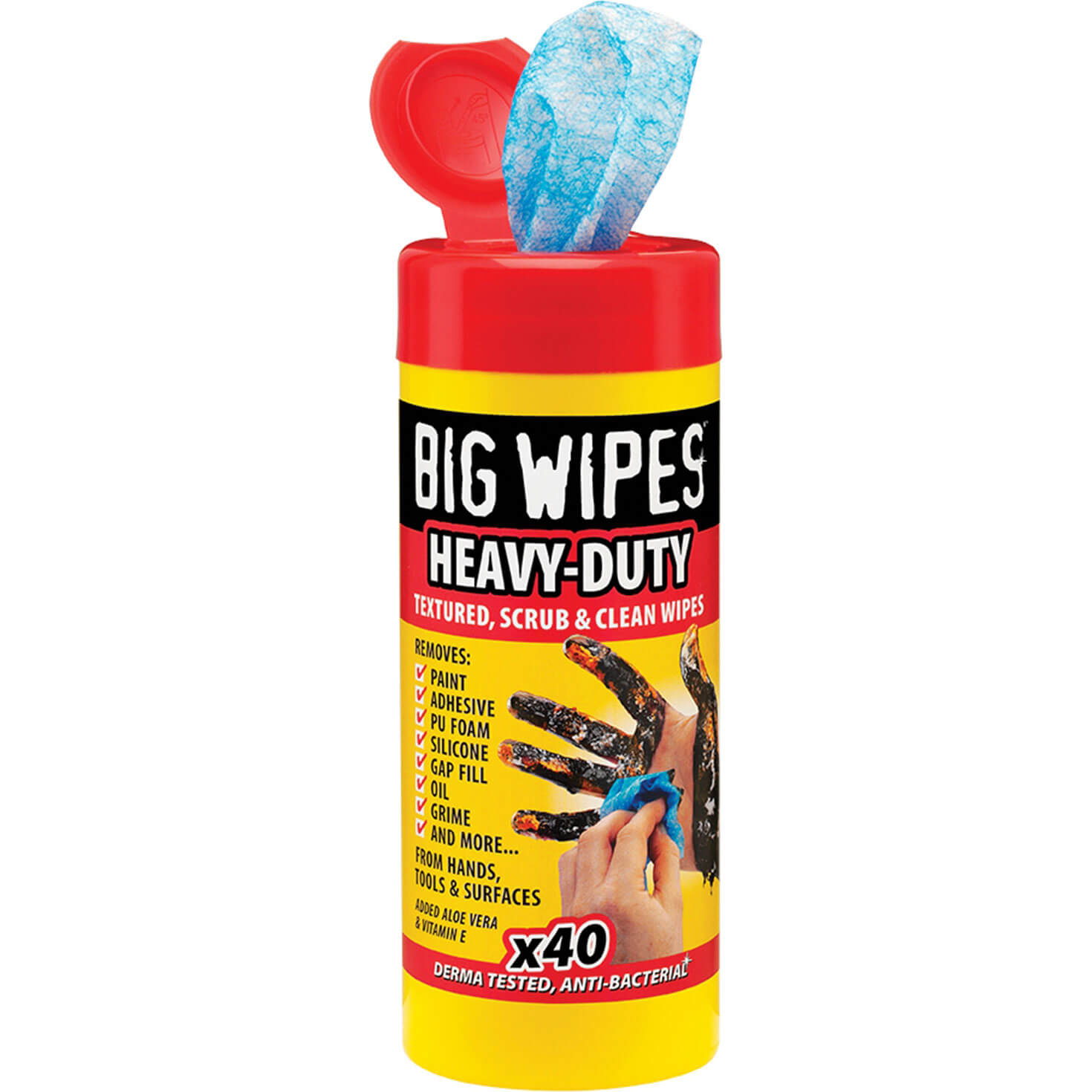 Image of Big Wipes Industrial Plus Cleaning Wipes Pack of 40