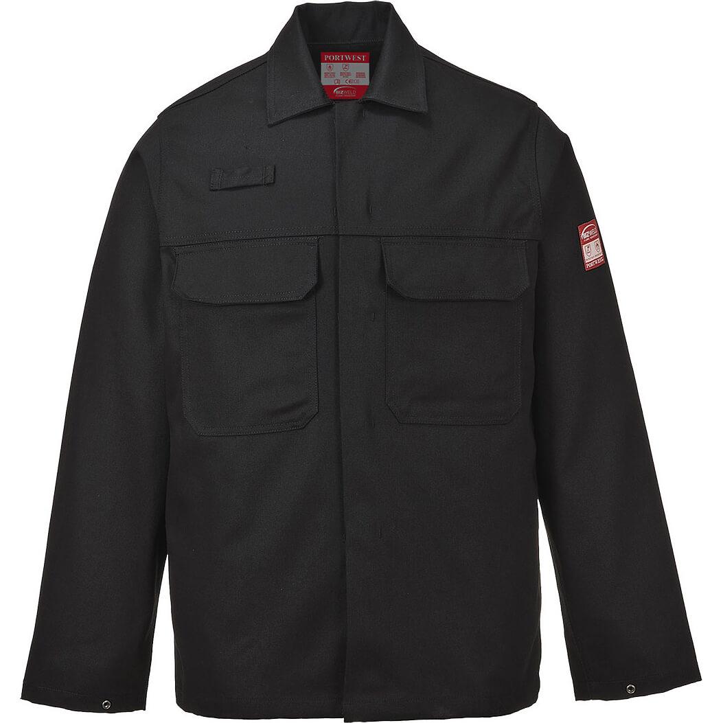 Image of Biz Weld Mens Flame Resistant Jacket Black S