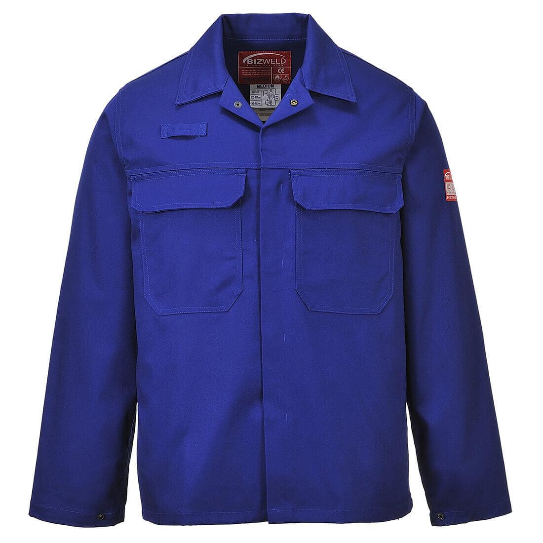 Image of Biz Weld Mens Flame Resistant Jacket Royal Blue L