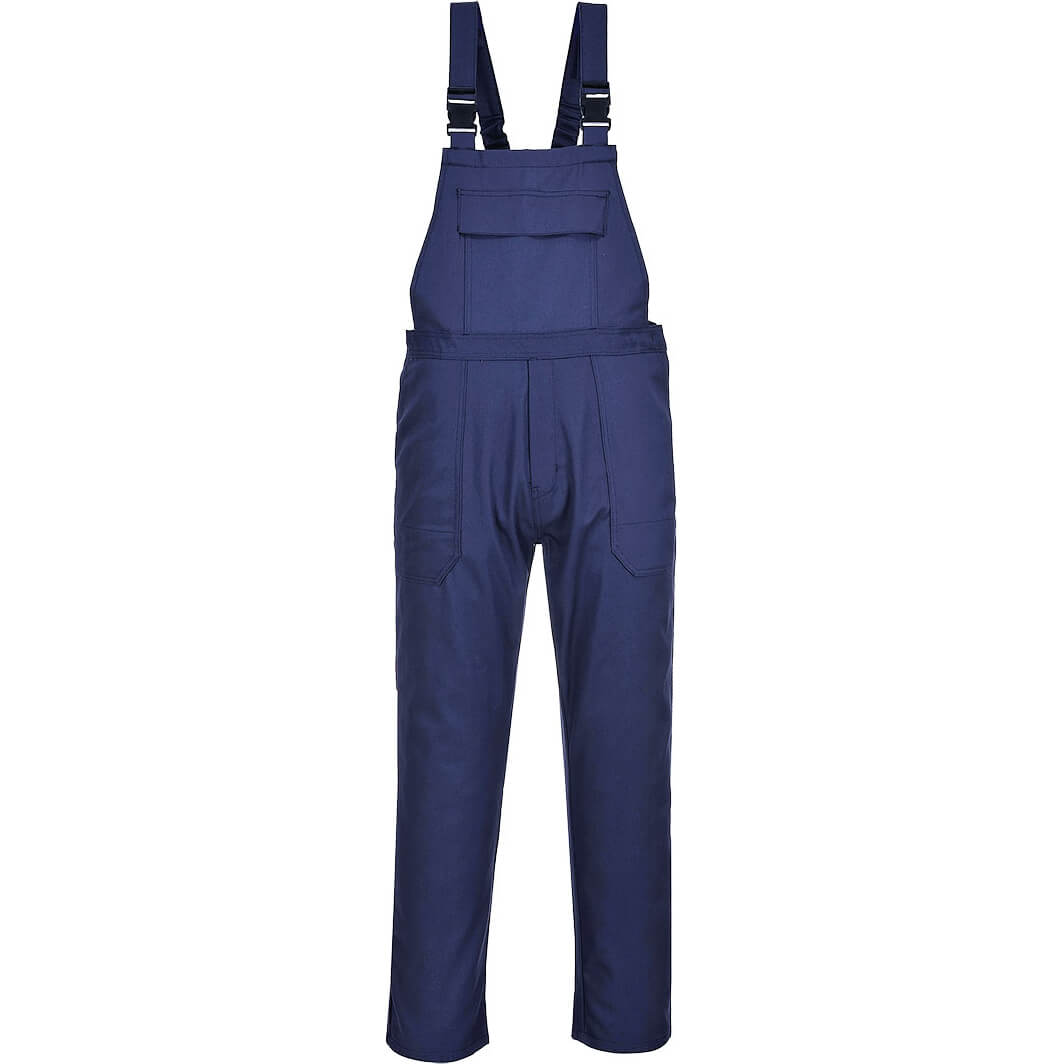 Image of Biz Weld Mens Flame Resistant Bib and Brace Navy 3XL