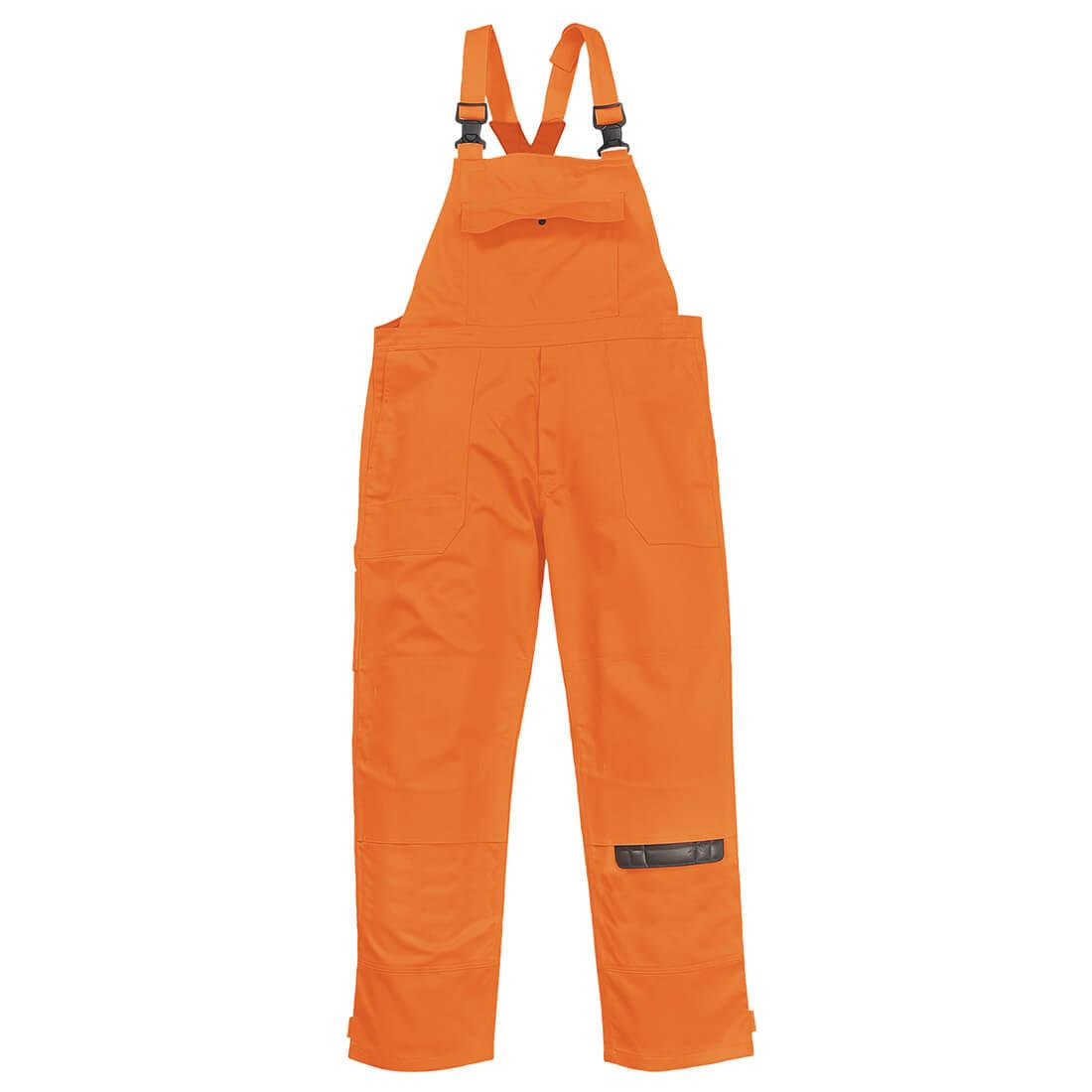 Image of Biz Weld Mens Flame Resistant Bib & Brace Orange 2XL