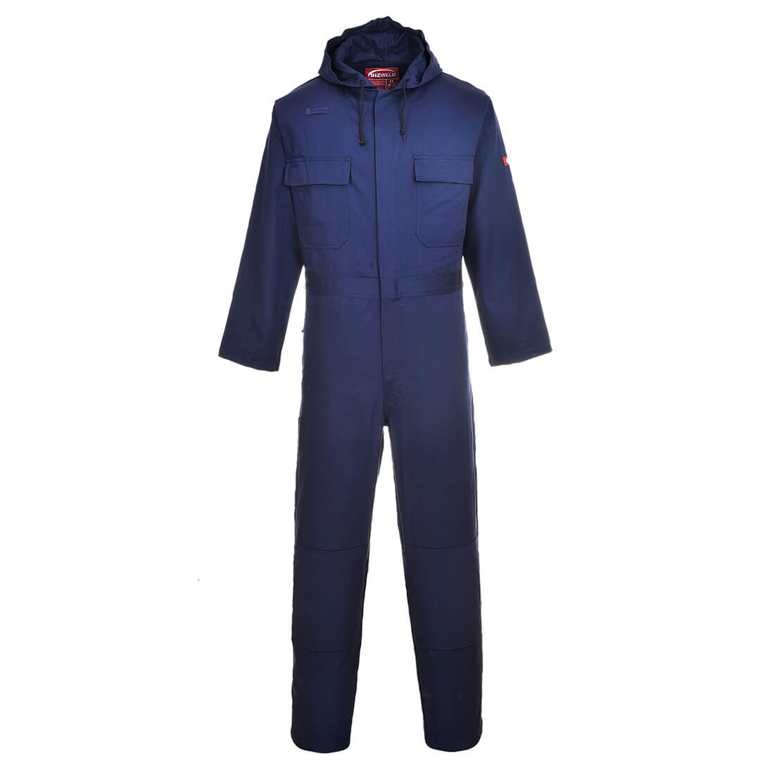 Image of Biz Weld Flame Resistant Hooded Coverall Navy 2XL