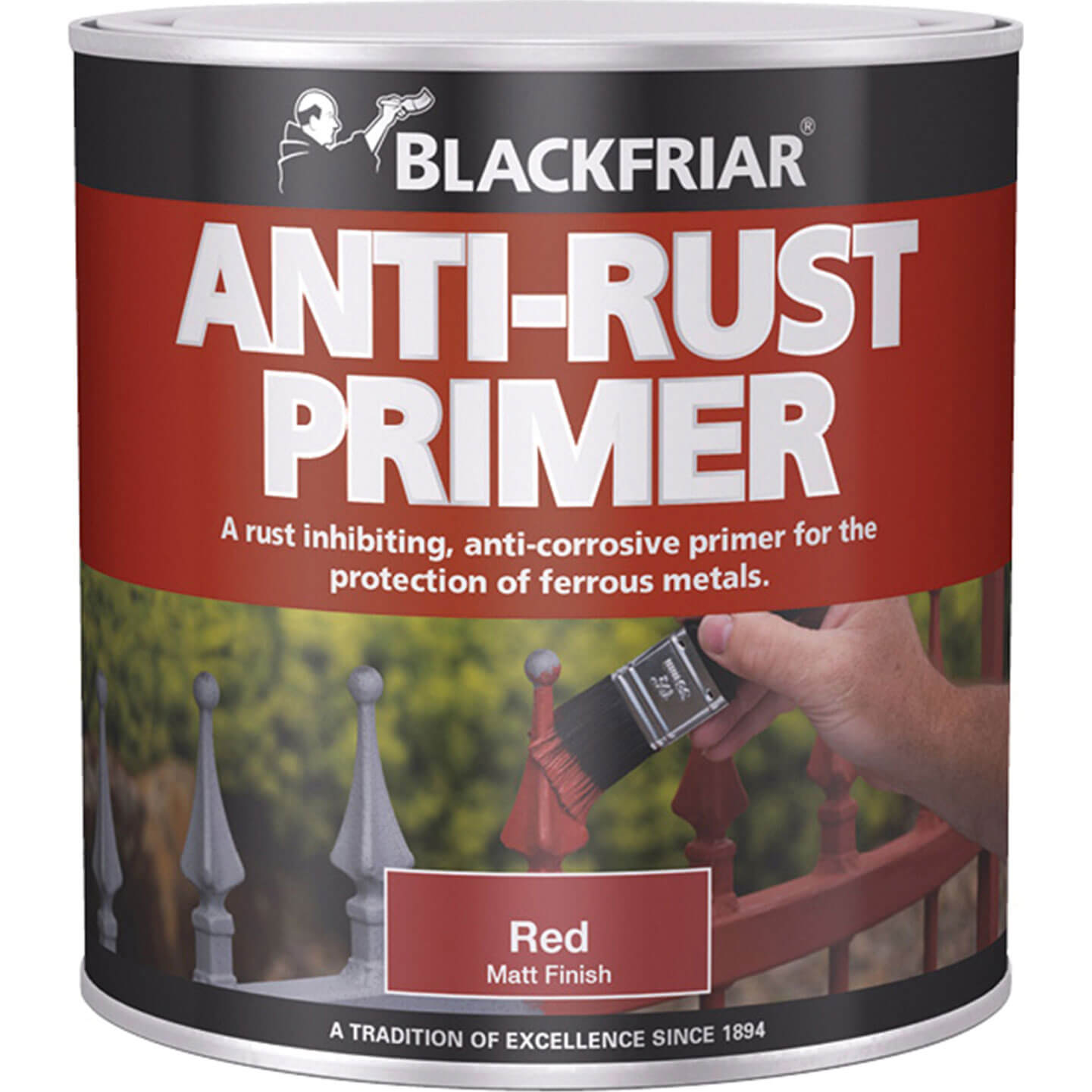 Image of Blackfriar Anti Rust Primer & Undercoat for Metal Red 1l