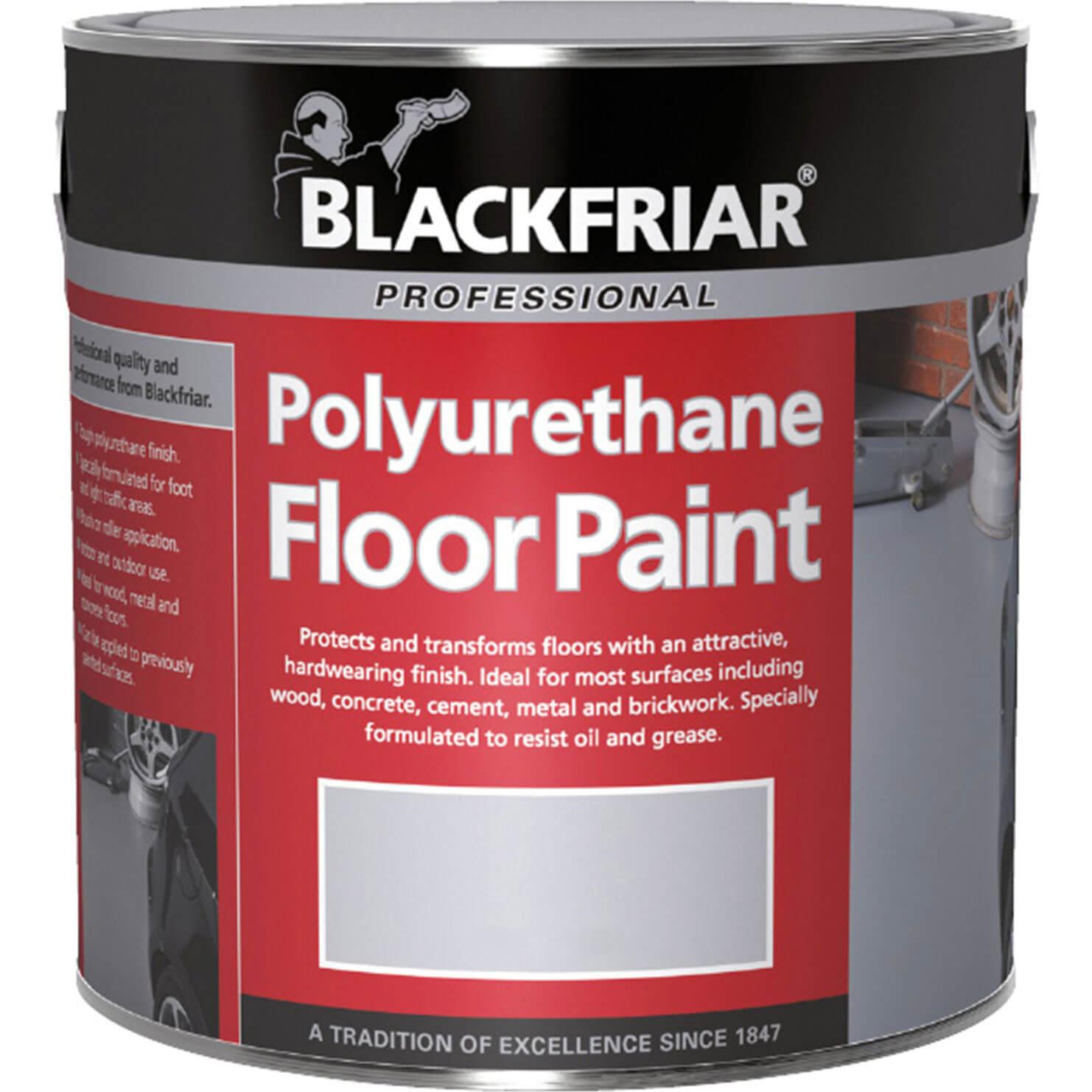 Image of Blackfriar Professional Polyurethane Floor Paint Tile Red 1l