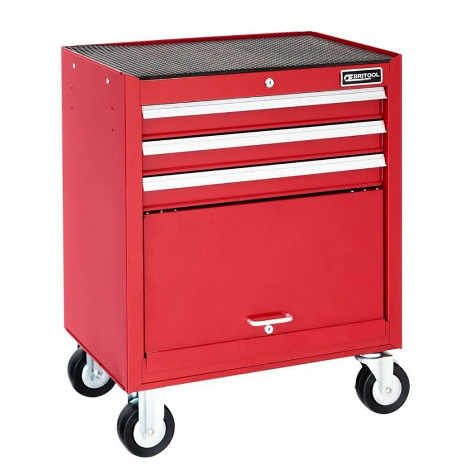 Image of Britool 3 Drawer Roller Cabinet Red