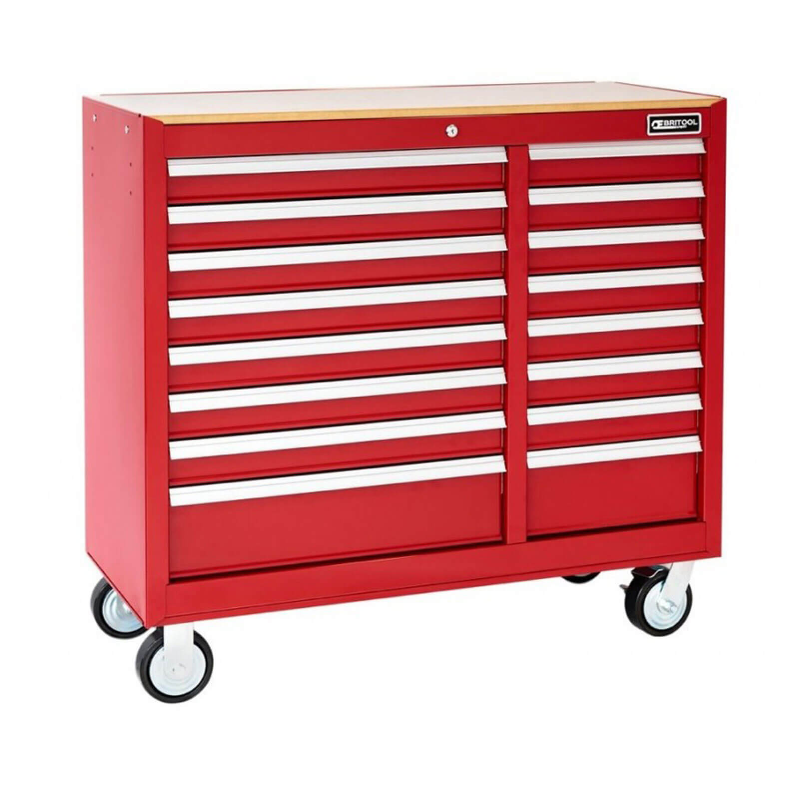 Image of Britool 16 Drawer Roller Cabinet Red