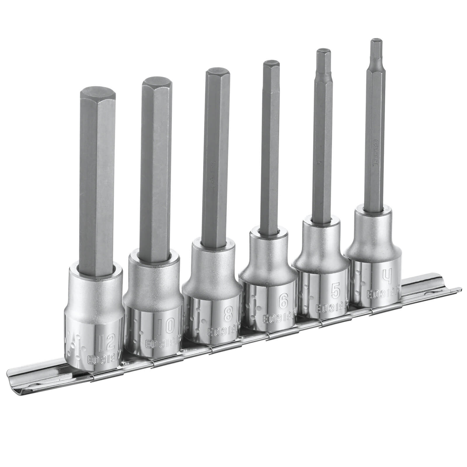 "Image of Britool Expert 6 Piece 1/2"" Drive Long Reach Hexagon Bit Set 1/2"""