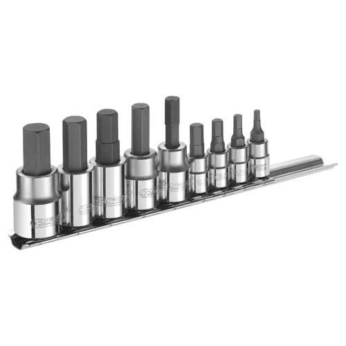 Click to view product details and reviews for Expert By Facom 9 Piece 1 4 And 3 8 Drive Hex Socket Bit Set Metric Combination.