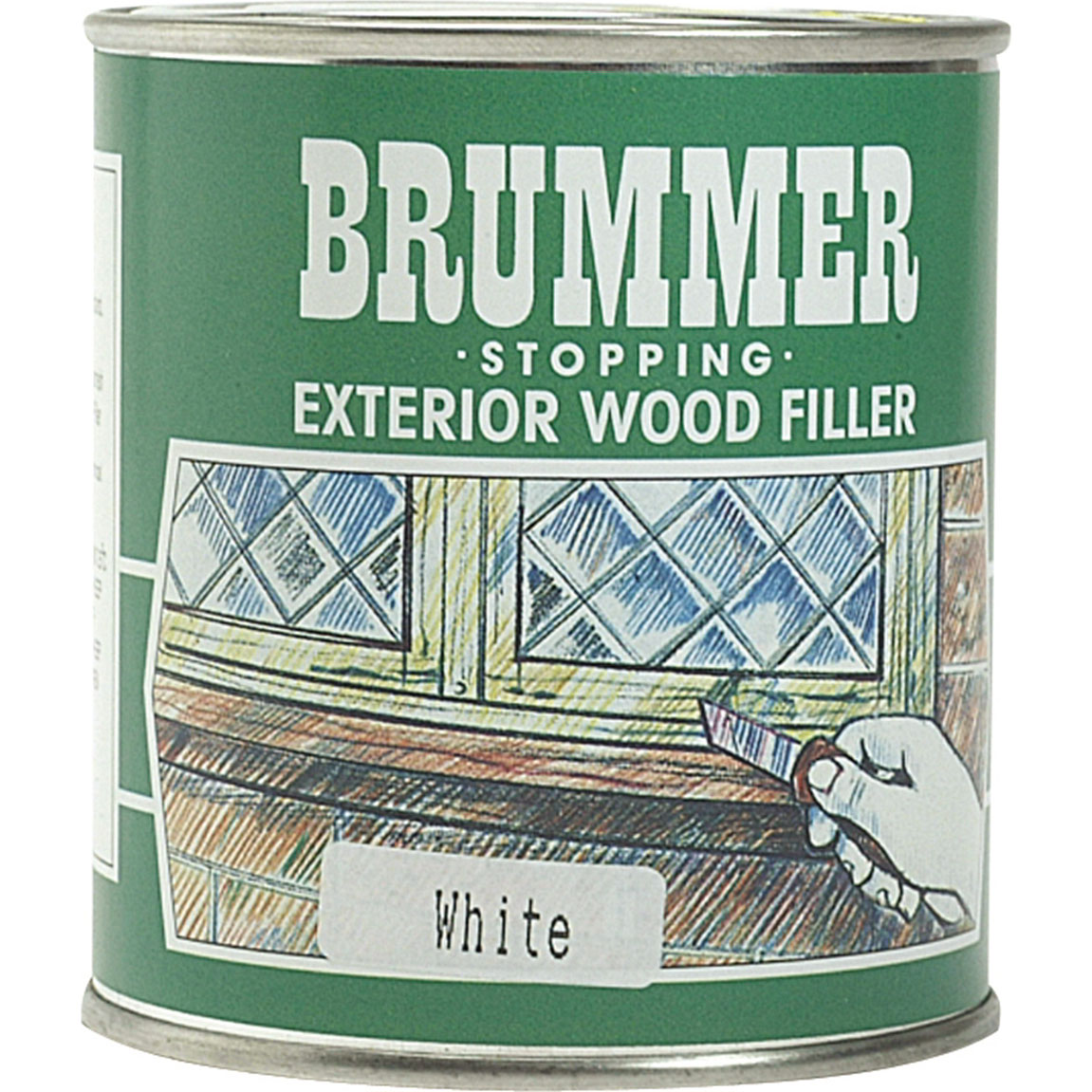 Image of Brummer Green Label Exterior Stopping Wood Filler Medium Mahogany 625g