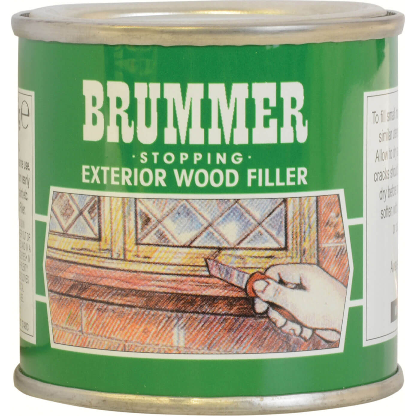 Image of Brummer Green Label Exterior Stopping Wood Filler Beech 225g
