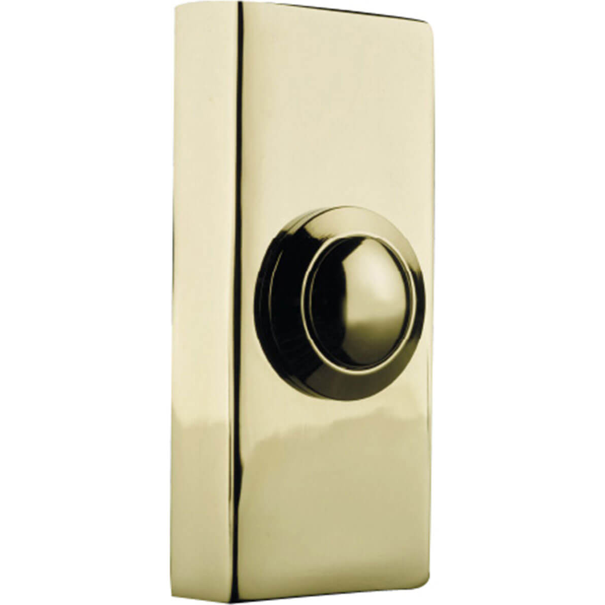 Image of Byron Wired Door Bell Push Brass