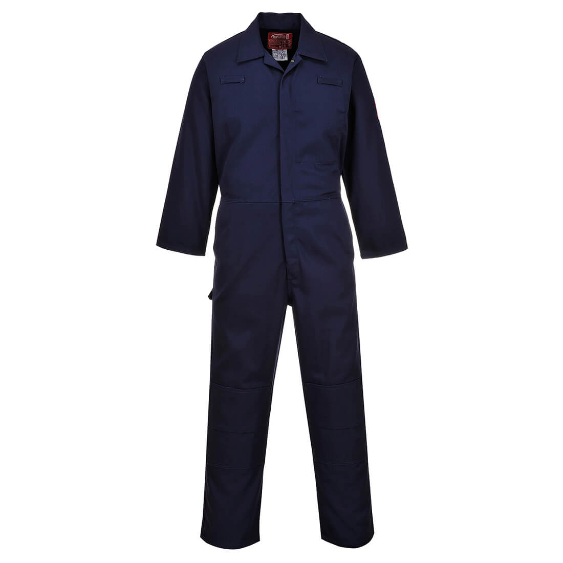 Image of Biz Weld Mens Flame Resistant Mole Skin Coverall Navy 2XL