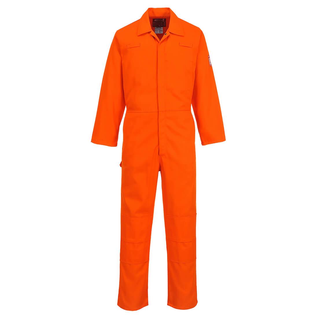 Image of Biz Weld Mens Flame Resistant Mole Skin Coverall Orange 2XL