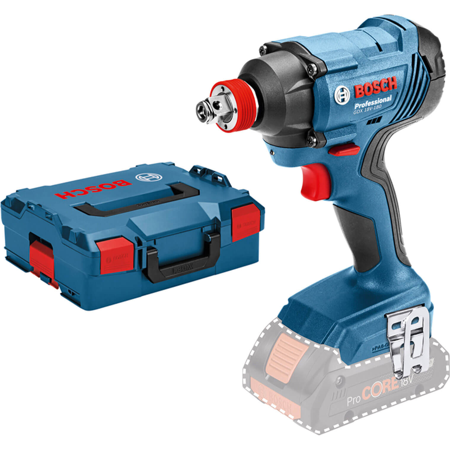 """Bosch GDX 18 V-180 18V 1/2"""" Sq Drive Impact Wrench No Batteries No Charger Case"""