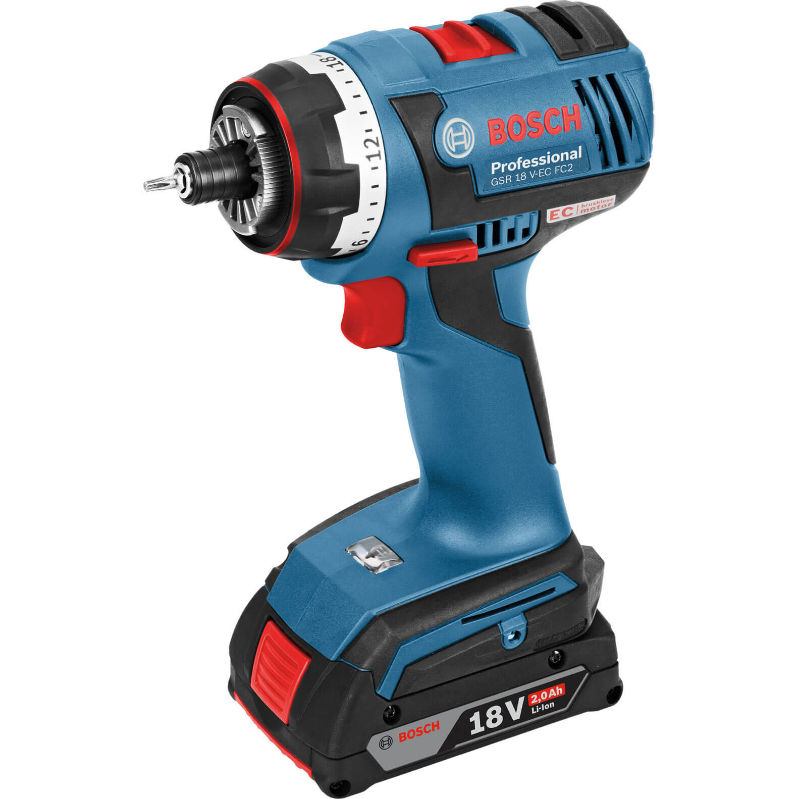 bosch gsr 18 v ec fc2 18v cordless brushless drill driver. Black Bedroom Furniture Sets. Home Design Ideas