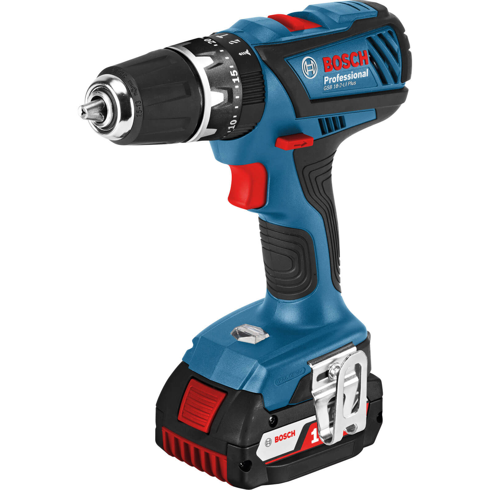 bosch gsb 18 2 li plus 18v cordless combi drill. Black Bedroom Furniture Sets. Home Design Ideas