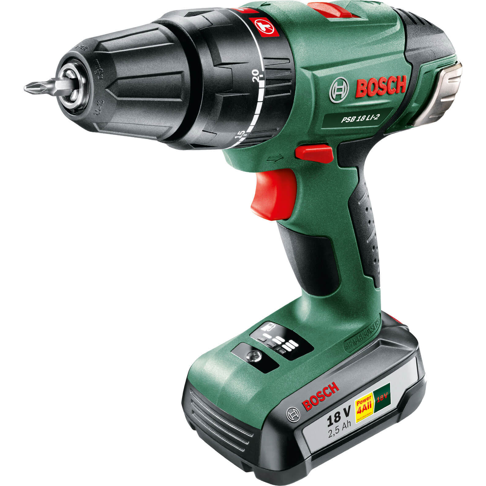 bosch psb 18 li 2 18v cordless combi drill. Black Bedroom Furniture Sets. Home Design Ideas