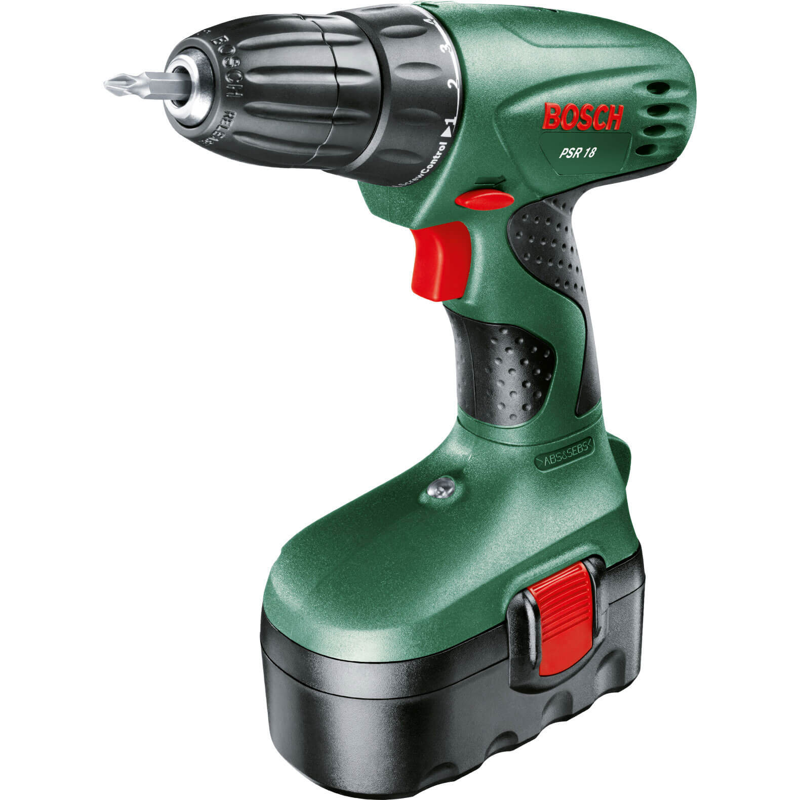 Bosch PSR 18v Cordless Drill Driver 2 x 1.2ah NiCD Charger Case