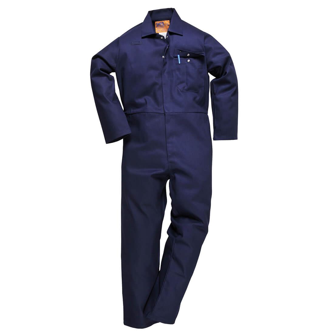 "Image of Safe Welder Overall Navy Blue 2XL 32"""