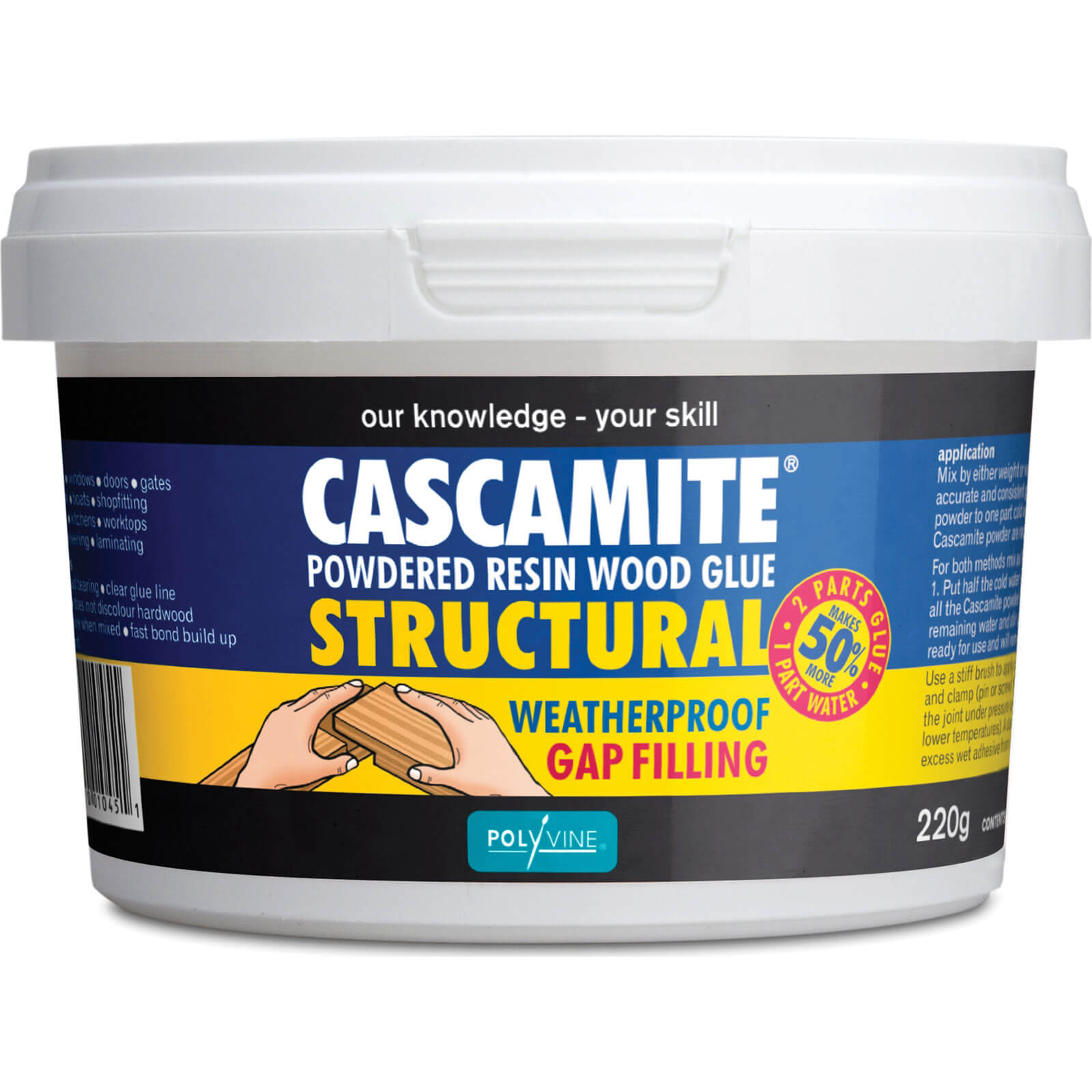 Image of Humbrol Cascamite One Shot Wood Adhesive 220g