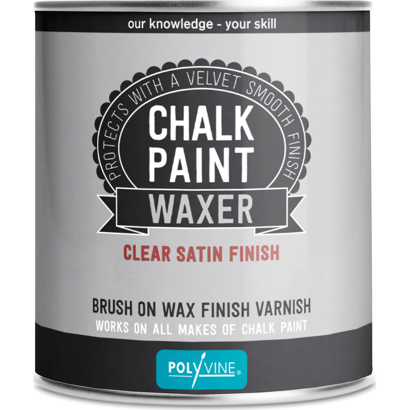 Image of Polyvine Chalk Paint Waxer Satin Finish 500ml