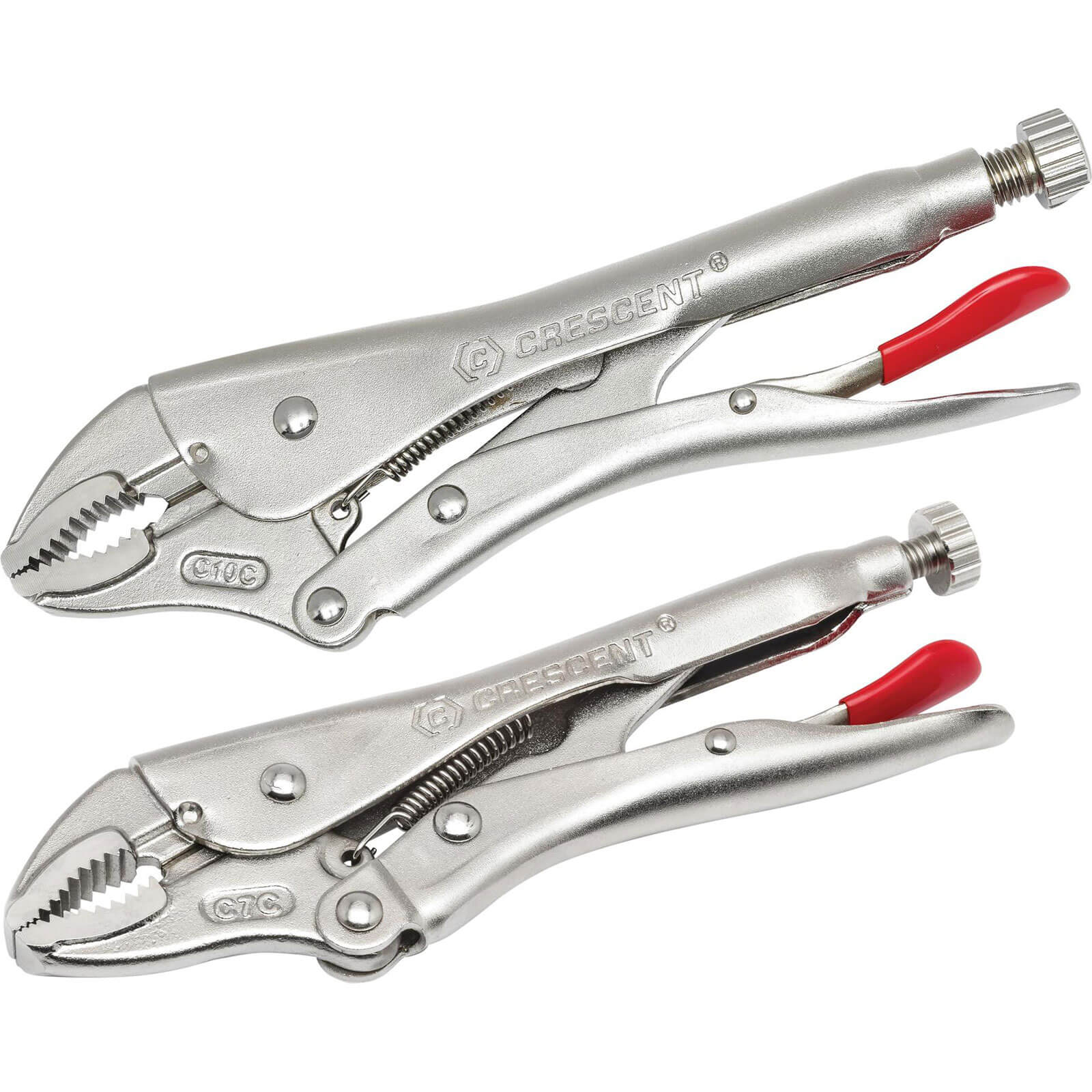 Image of Crescent 2 Piece Curved Jaw Locking Pliers With Wire Cutter Set