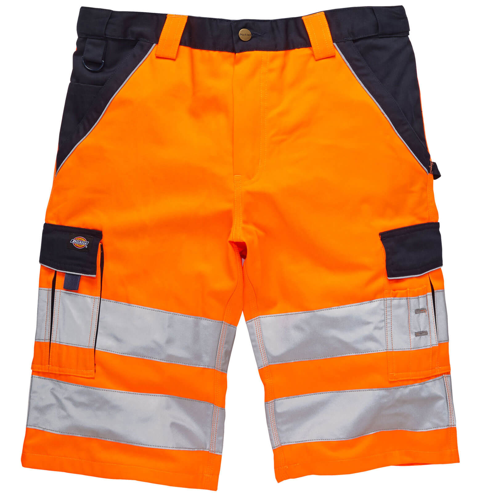 Image of Dickies Mens High Visibility Industry 300 Shorts Orange / Navy 44""