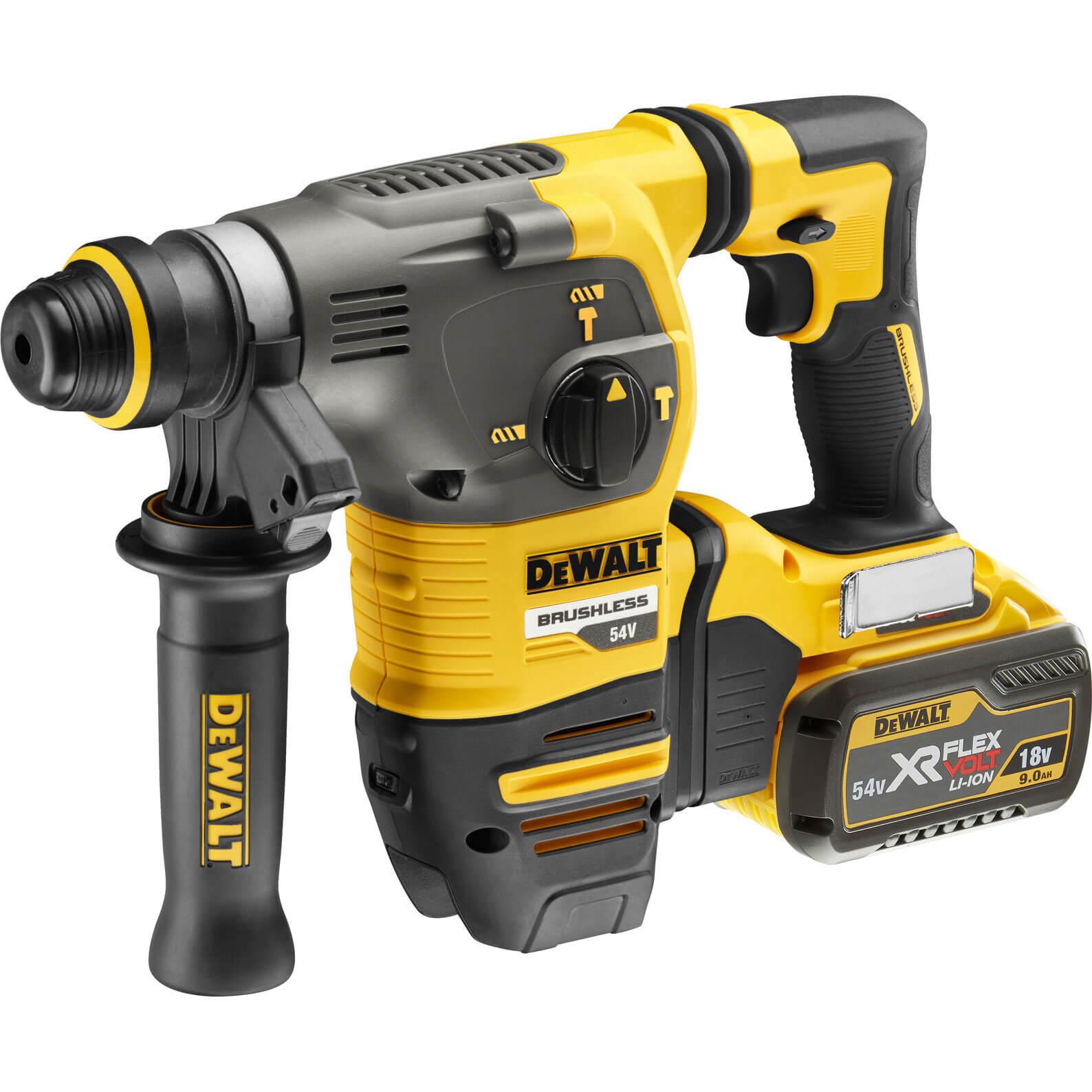 DeWalt DCH333 54v XR FLEXVOLT Cordless SDS Hammer Drill 2 x 9ah Liion Charger Case