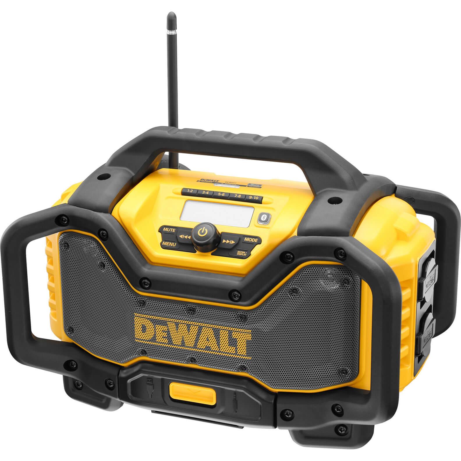 Image of DeWalt DCR027 XR DAB Job Site Workshop Radio & Battery Charger 240v