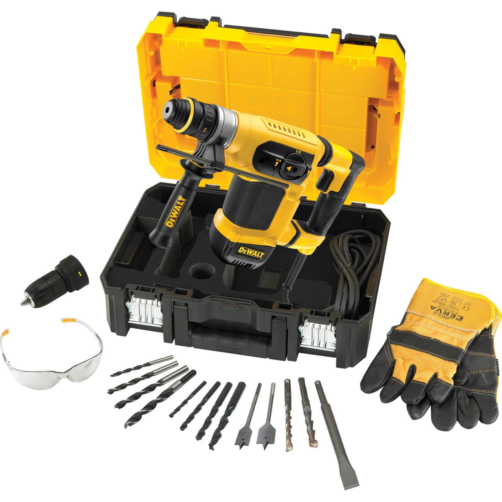 Image of DeWalt D25414KT SDS Plus Hammer Drill Kit 110v