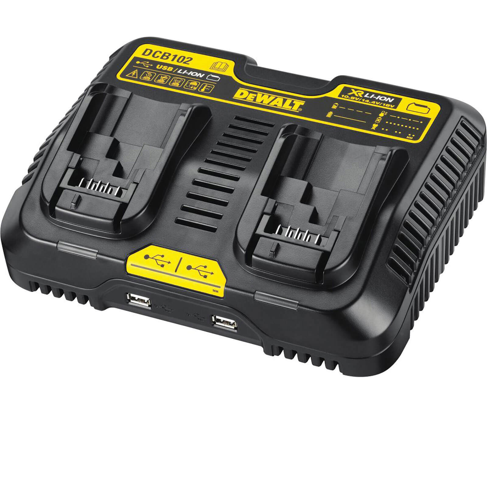 DeWalt DCB102 XR 18v Cordless Liion Twin Port Battery Charger 240v