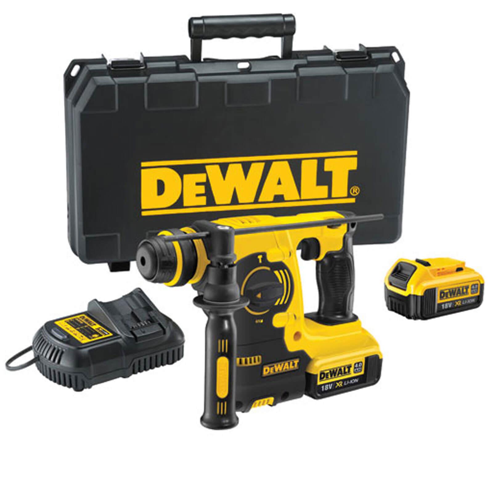 DeWalt DCH253 18v XR Cordless SDS Plus Hammer Drill 2 x 4ah Liion Charger Case