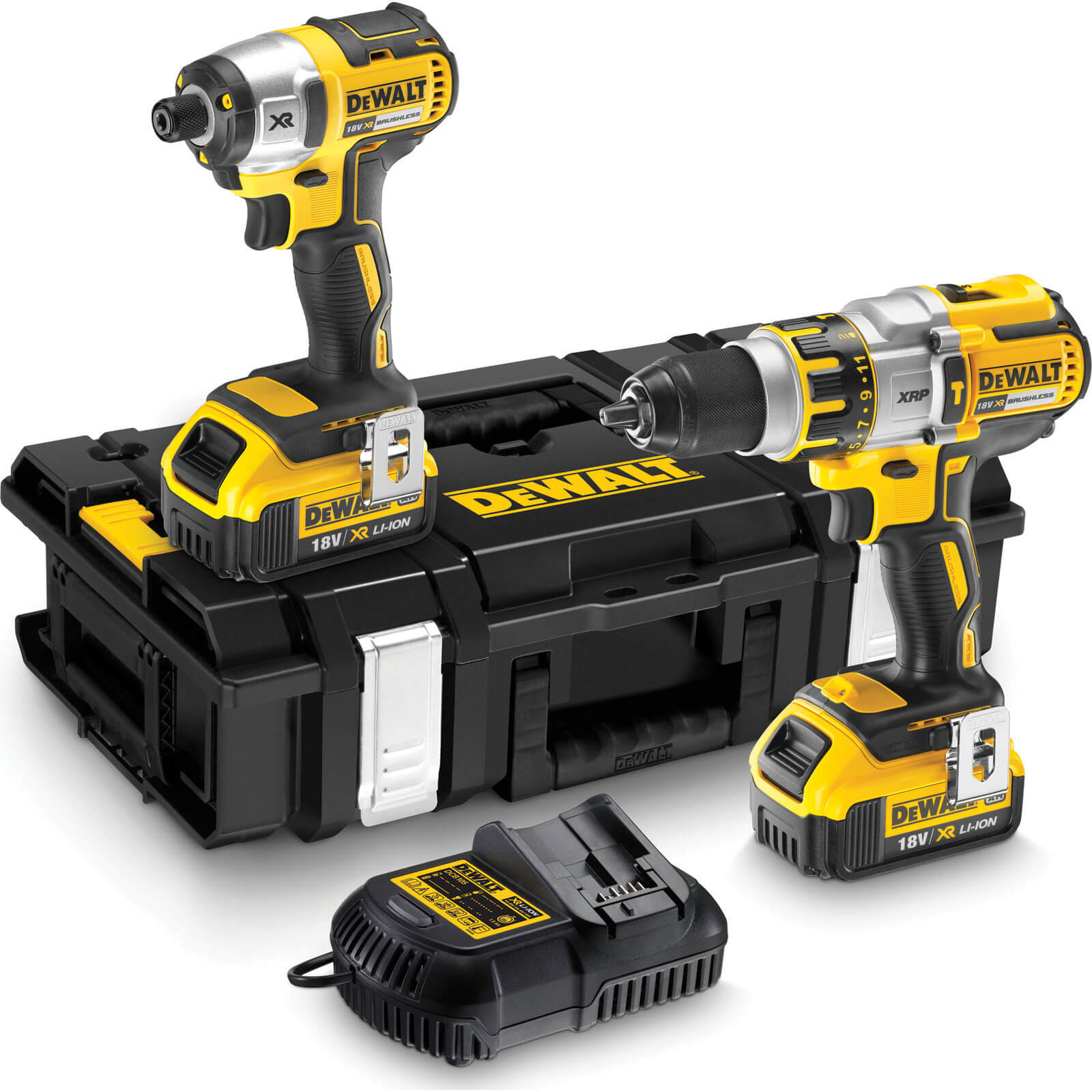 dewalt dck255m2 18v cordless xr brushless combi drill. Black Bedroom Furniture Sets. Home Design Ideas