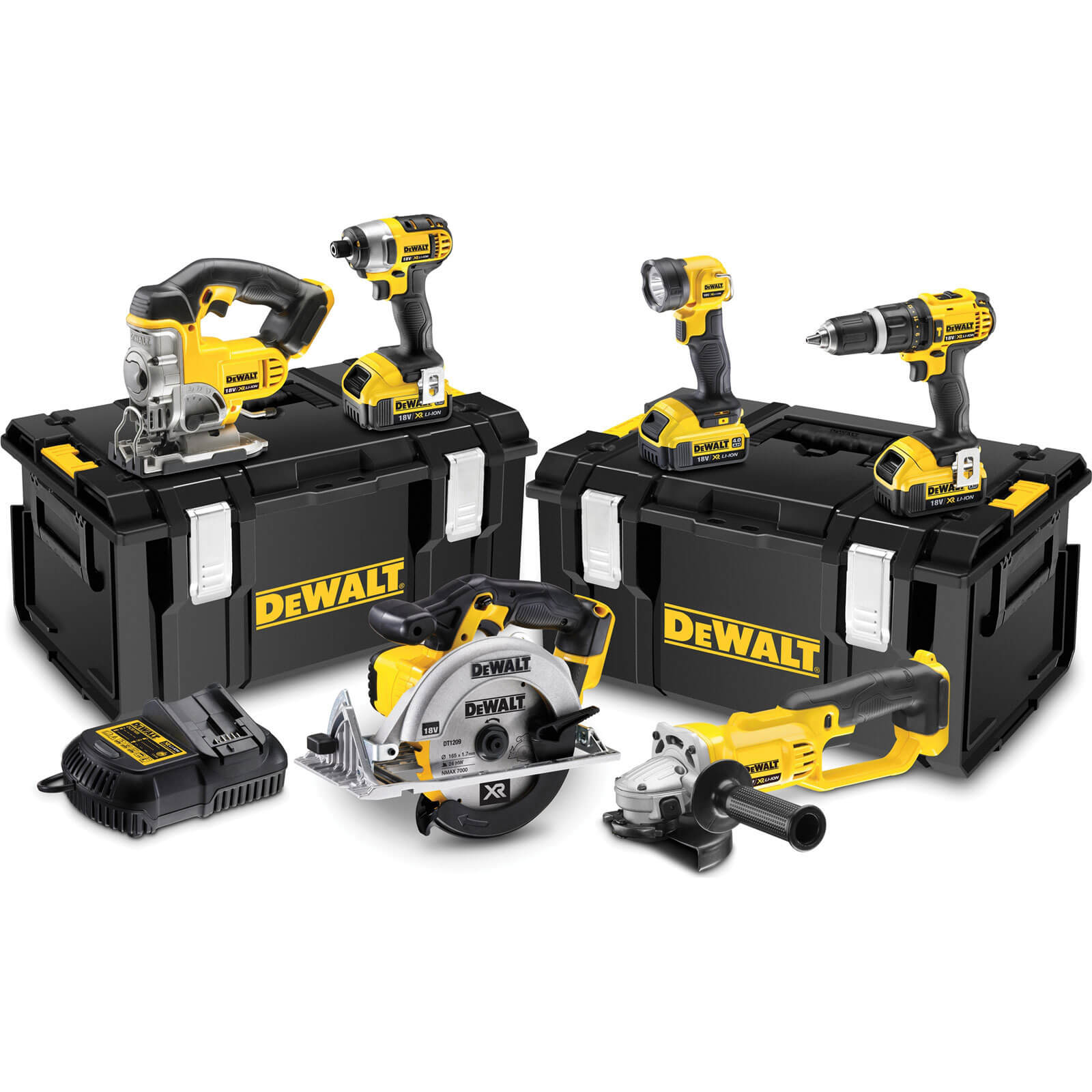 DeWalt DCK691M3 18v XR Cordless 6 Piece Power Tool Kit 3 x 4ah Liion Charger Case