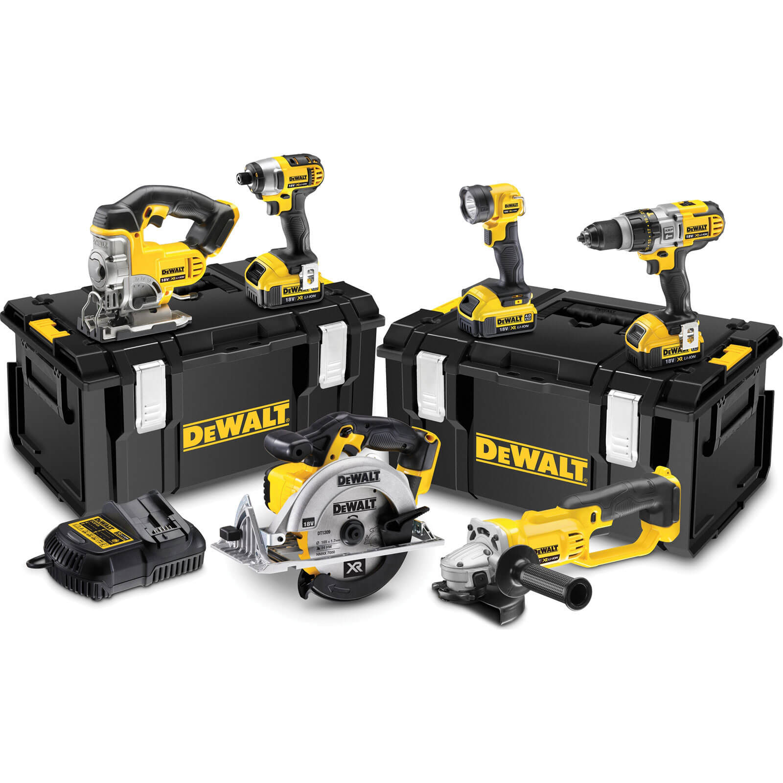 DeWalt DCK692 18v XR Cordless 6 Piece Power Tool Kit 3 x 4ah Liion Charger Case